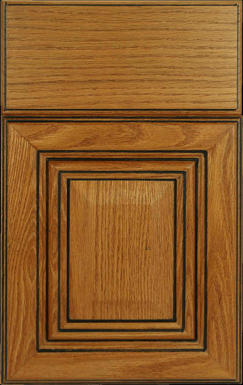 color palette for kitchen cabins. Oak Vintage honey black glaze