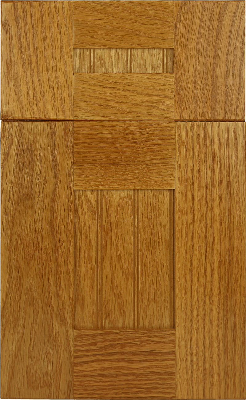 color palette for kitchen cabins Oak West Haven Honey