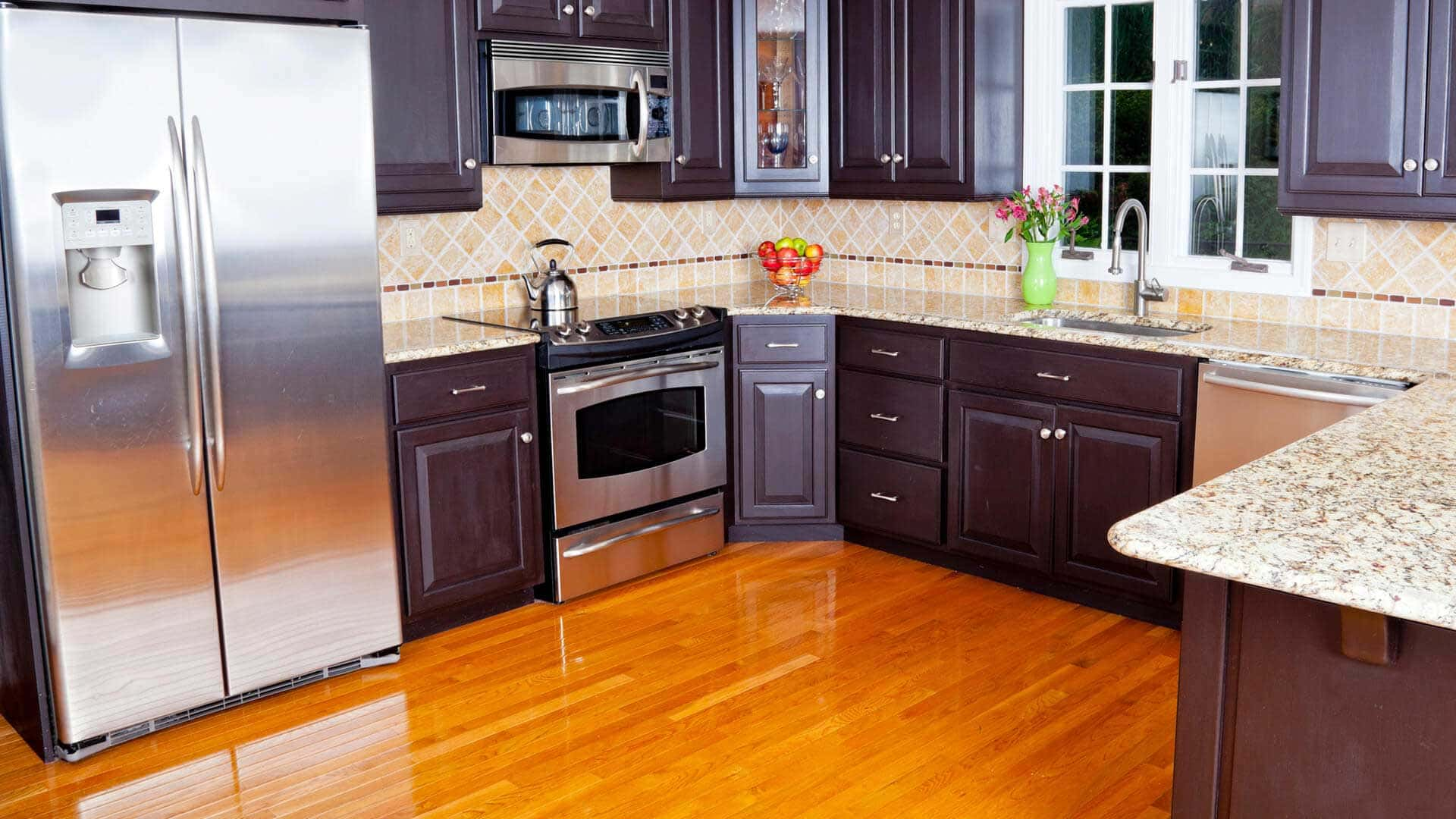 We make your kitchen cabinets in our factory, so it fits your space and lifestyle